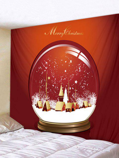 8a49c0af724 Christmas Crystal Ball Print Tapestry Art Decoration - multicolor W91 X L71  INCH