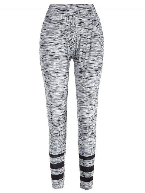 Striped Leggings with Elastic Waisted - multicolor M