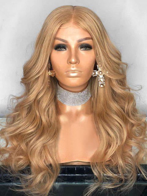 Long Party Center Parting Wavy Lace Front Synthetic Wig - LIGHT BROWN