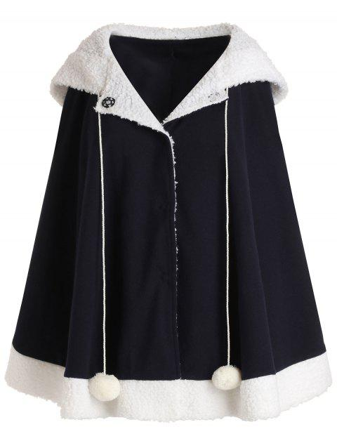 Hooded Wool Blend Coat - CADETBLUE M