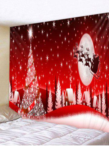 christmas night sleigh print tapestry art decoration