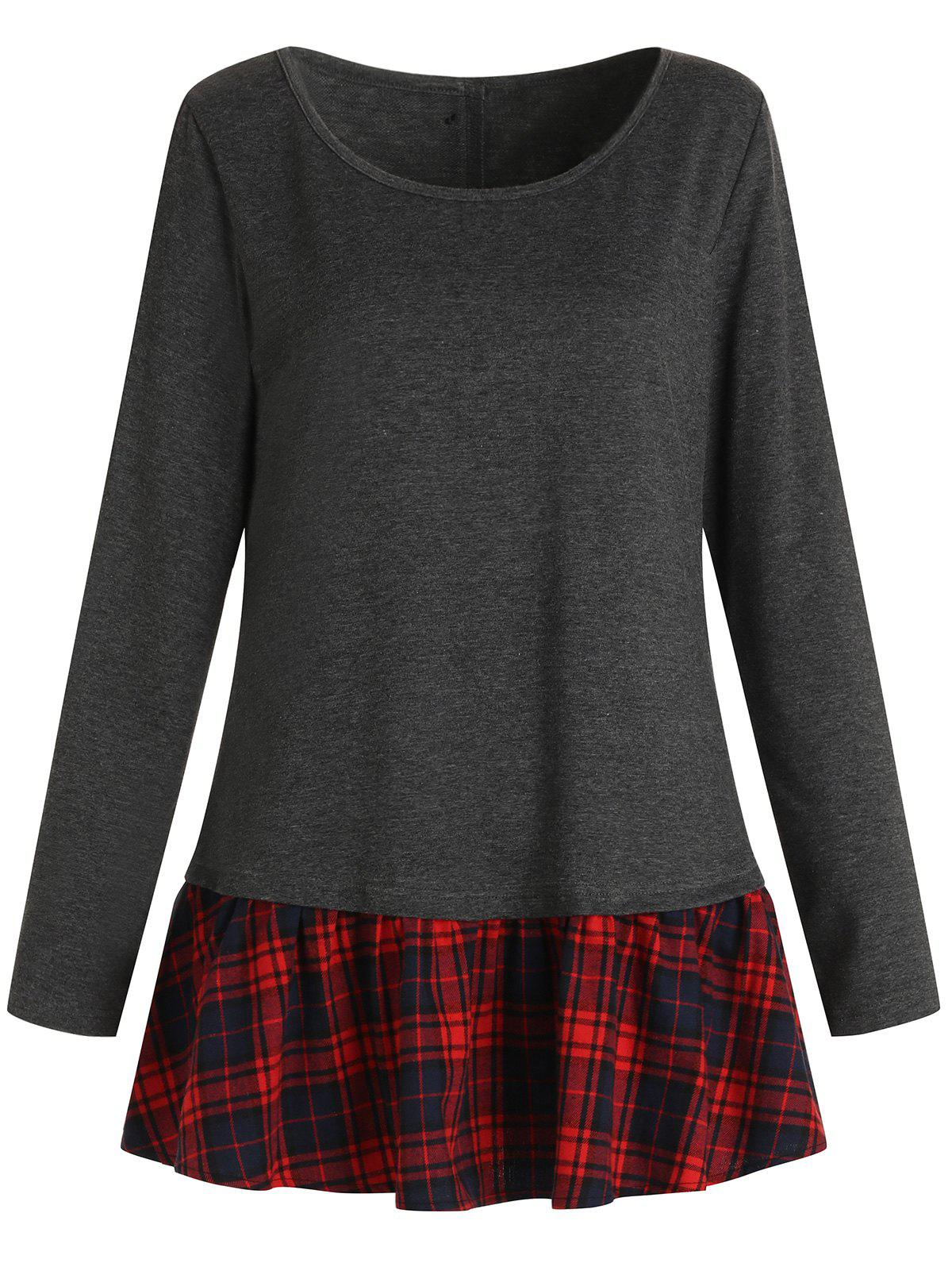 Plaid Insert T-shirt