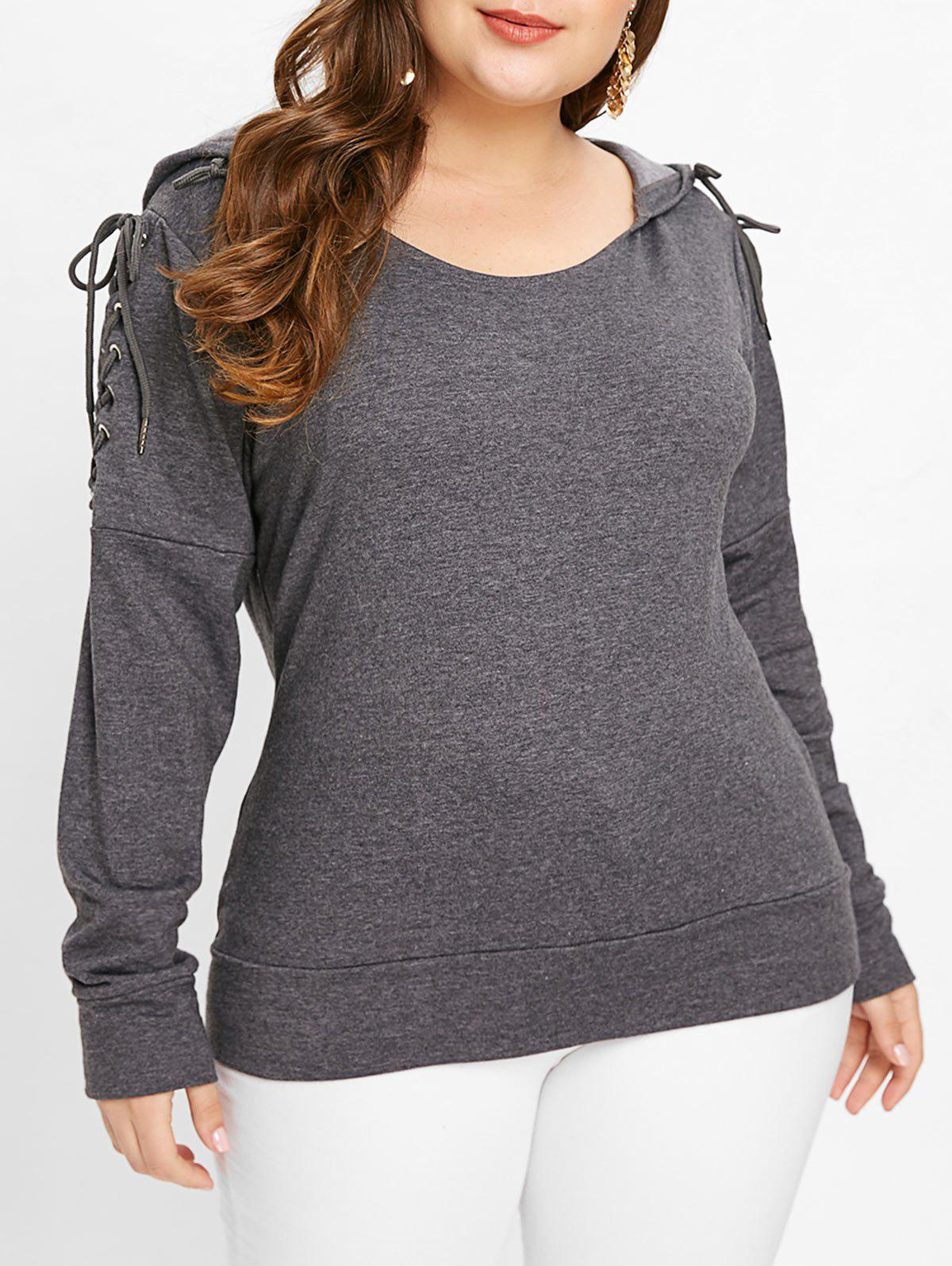 Plus Size Drop Shoulder Hoodie