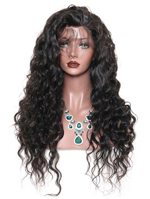 Long Free Part Wave Curly Lace Front Synthetic Wig - BLACK 26INCH