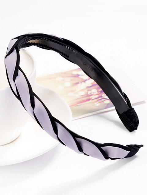 Vintage Solid Color Hair Decoration Hairband - LIGHT GRAY