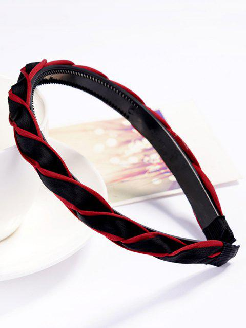 Vintage Solid Color Hair Decoration Hairband - RED