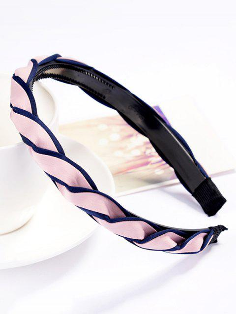Vintage Solid Color Hair Decoration Hairband - PINK