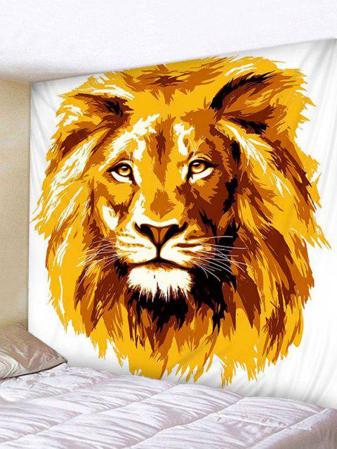 Lion Print Tapestry Wall Hanging Decoration - GOLDEN BROWN W59 X L51 INCH
