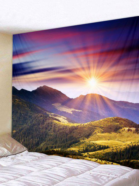 Sunset Mountains Print Tapestry Wall Hanging Decoration - multicolor W59 X L51 INCH