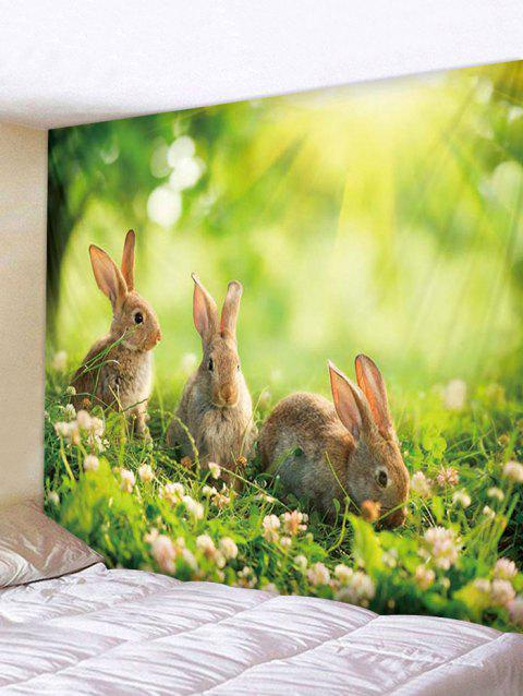 Rabbits Print Tapestry Wall Hanging Decoration - multicolor W79 X L71 INCH