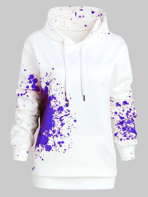 Plus Size Splatter Halloween Theme Hoodie - BLUE 2X