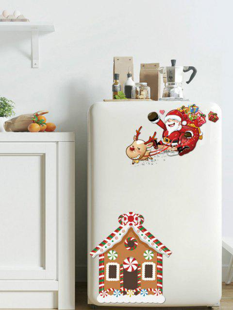 Christmas House Print Wall Art Stickers - multicolor