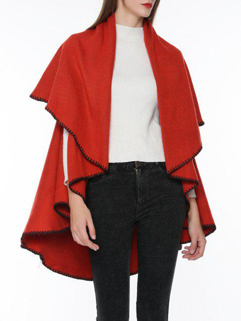 Vintage Solid Color Winter Oversized Scarf - RED
