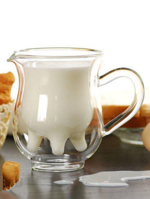 Double-layer Cow Milk Glass Cup - TRANSPARENT 230ML