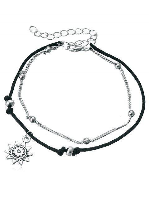 Multi-Layers Sunflower Anklet Chain - multicolor