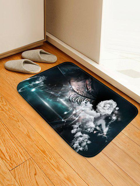 Vintage 3D Printed Non-slip Area Rug - MIDNIGHT BLUE W16 X L24 INCH
