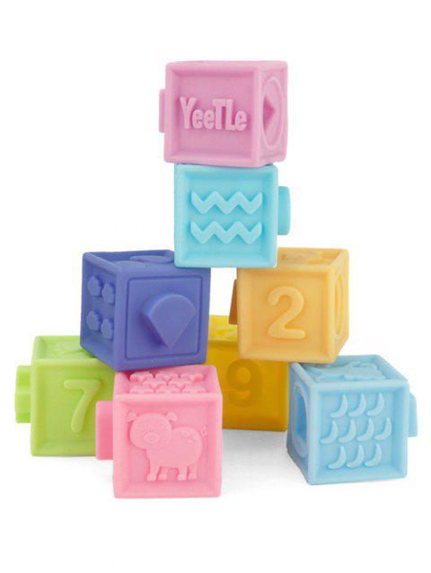 Educational Toys Soft Cartoon Embossed Blocks - multicolor