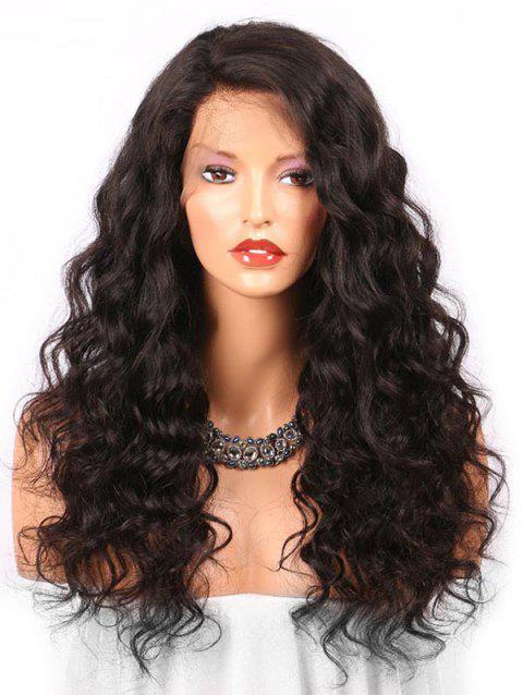 Long Side Bang Loose Wave Synthetic Lace Front Wig - BLACK 24INCH