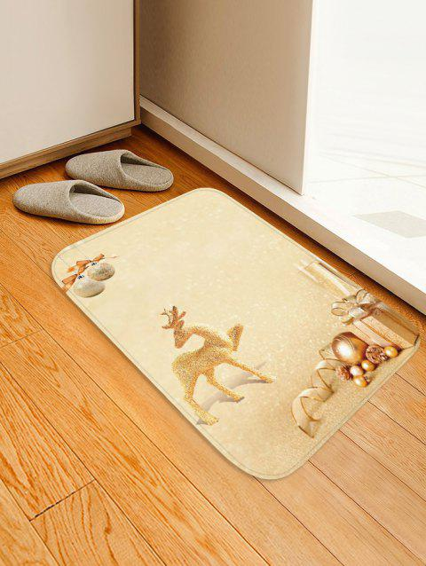 Christmas Deer Gift Printed Non-slip Area Rug - BEIGE W16 X L24 INCH