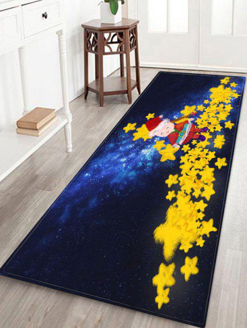 Christmas Star Printed Non-slip Area Rug - CORN YELLOW W16 X L47 INCH