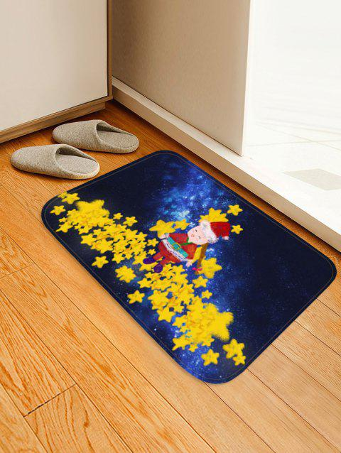 Christmas Star Printed Non-slip Area Rug - CORN YELLOW W20 X L31.5 INCH
