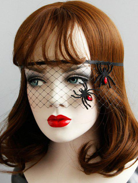 Halloween Party Spider Mask - BLACK