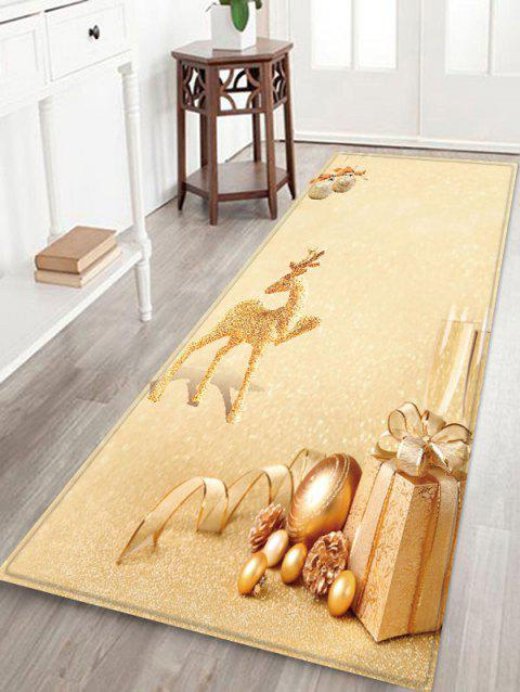 Christmas Deer Gift Printed Non-slip Area Rug - BEIGE W24 X L71 INCH