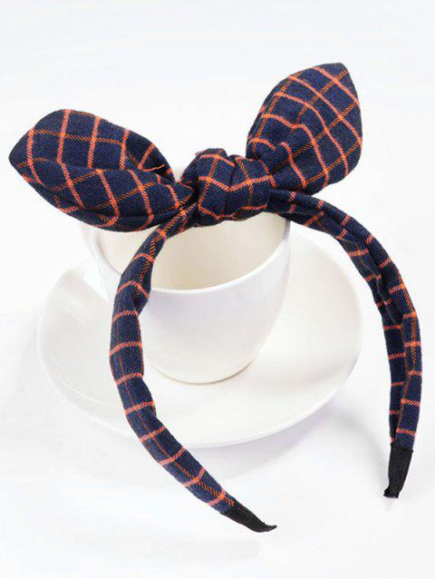 Checked Pattern Bowknot Hair Hoop - RED