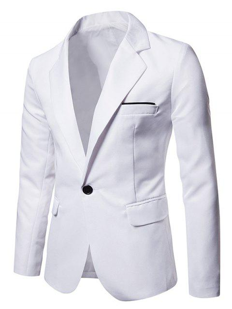 Faux Chest Pocket Casual Blazer - WHITE M