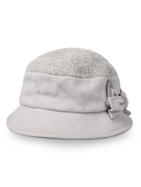 6ffd8e2b538f 41% OFF] 2019 Cute Bowknot Round Top Bucket Hat In GRAY CLOUD ...