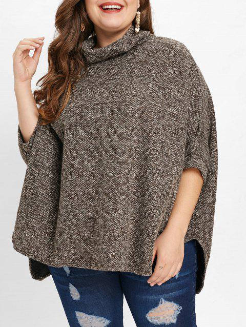 d8092d0103d64 17% OFF  2019 Plus Size High Low Cloak Sweater In CARBON GRAY ONE ...
