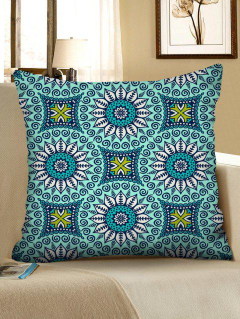 Mandala Flower Printed Pillowcase - multicolor W18 X L18 INCH