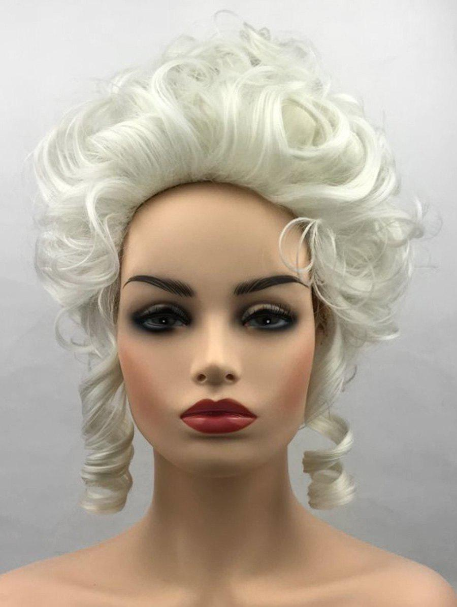 Short Film Characters Cosplay Curly Synthetic Wig - BLONDE