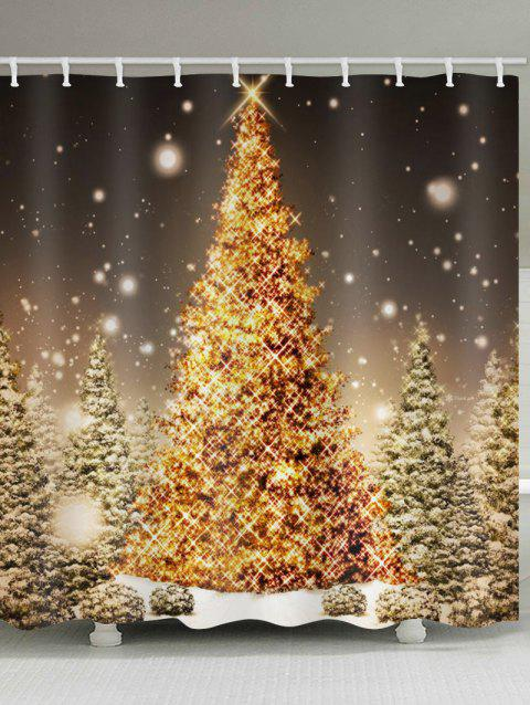 Christmas Tree Forest Print Waterproof Shower Curtain - multicolor W59 X L71 INCH