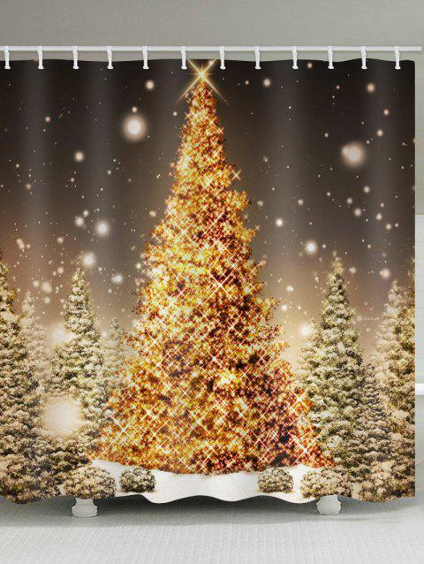 Christmas Tree Forest Print Waterproof Shower Curtain - multicolor W71 X L79 INCH