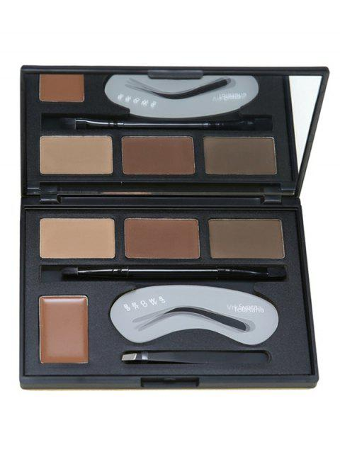 Cosmetic 4 Colors Eyebrow Powder Palette - TAN REGULAR