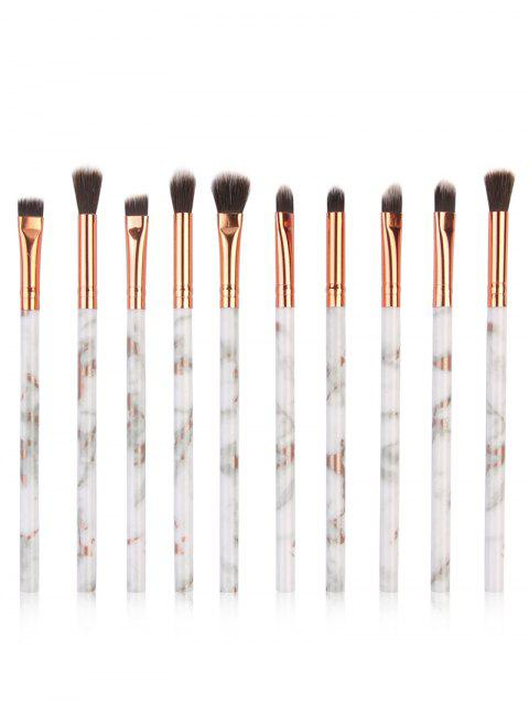 Cosmetic 10Pcs Soften Silky Fiber Hair Eye Makeup Brush Set - PLATINUM