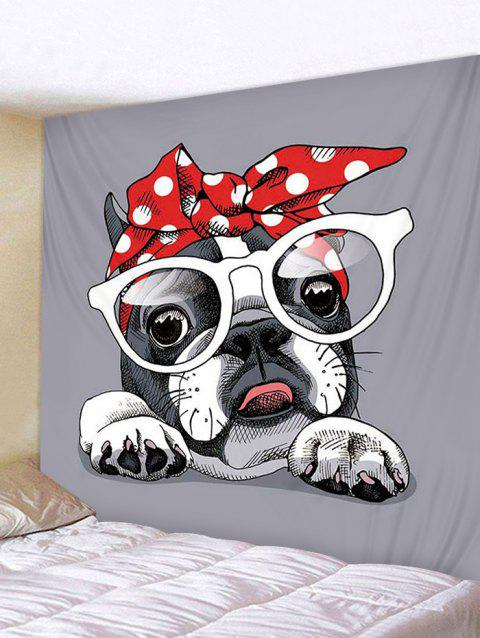 Dressed Dog Print Tapestry Wall Hanging Decoration - multicolor W79 X L71 INCH