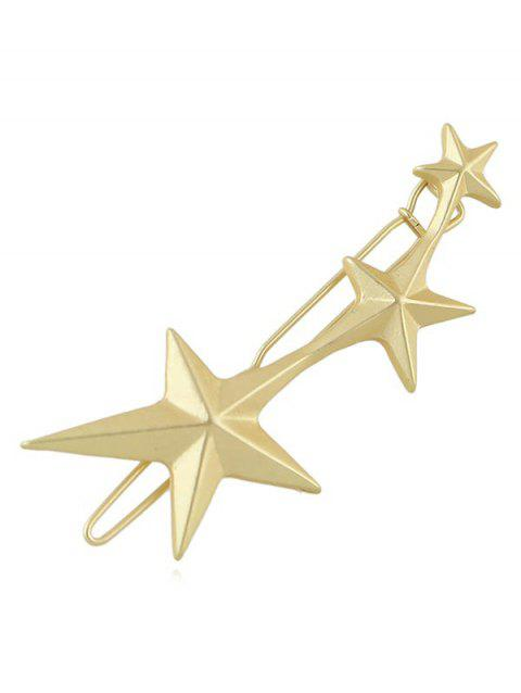 Star Decoration Hair Clip - GOLD