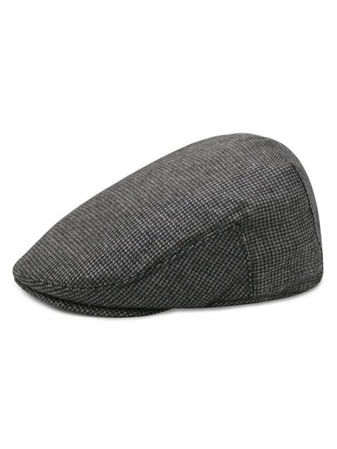 Houndstooth Pattern Newsboy Hat - multicolor E