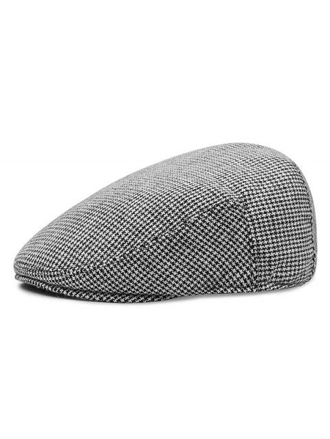 afe78bfe 41% OFF] 2019 Houndstooth Pattern Newsboy Hat In Multicolor A ...