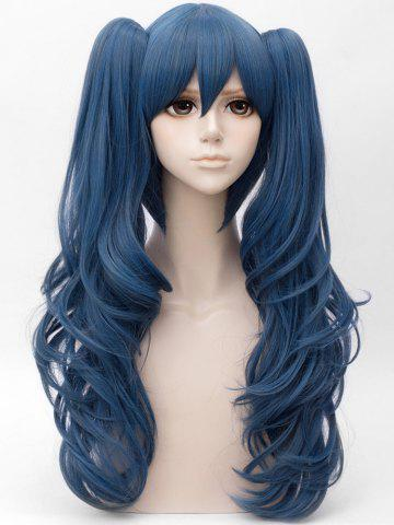 Long Side Bang Two Wavy Ponytail Straight Cosplay Anime Synthetic Wig 30536b748