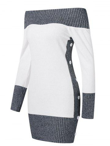 02a2e12b8d Hit Color Tunic Knitted Dress