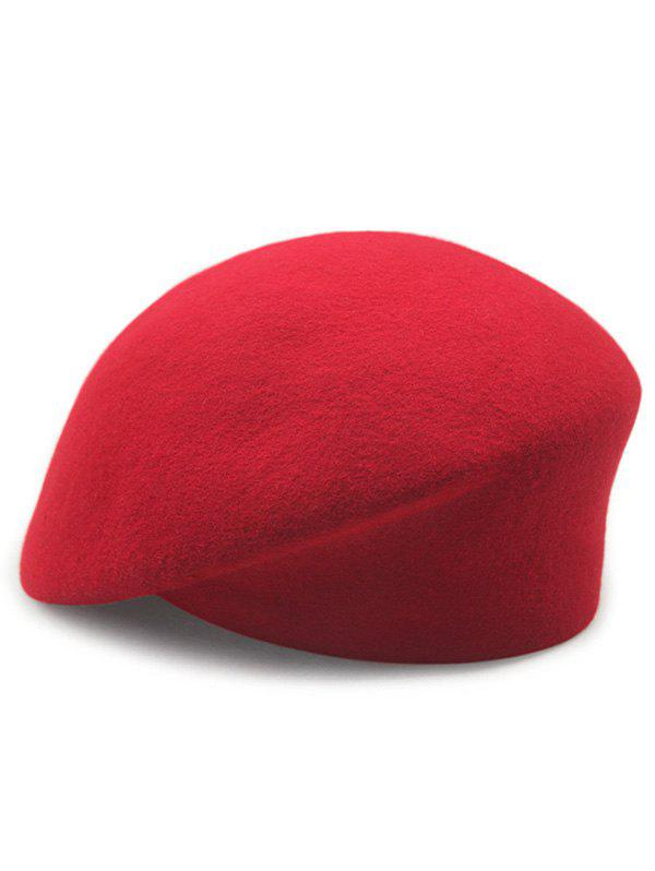 Stylish  Solid Color Wool Beret