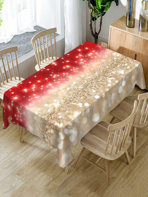 Christmas Star Light Fabric Waterproof Table Cloth - multicolor W54 X L54 INCH
