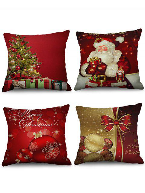 Christmas Decorations Printed Throw Pillow Cases - multicolor