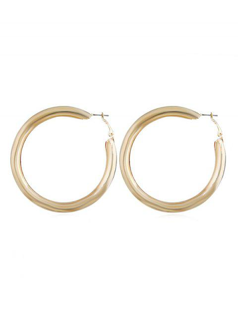 Hollow Round Shape Cuff Stud Earrings - GOLD