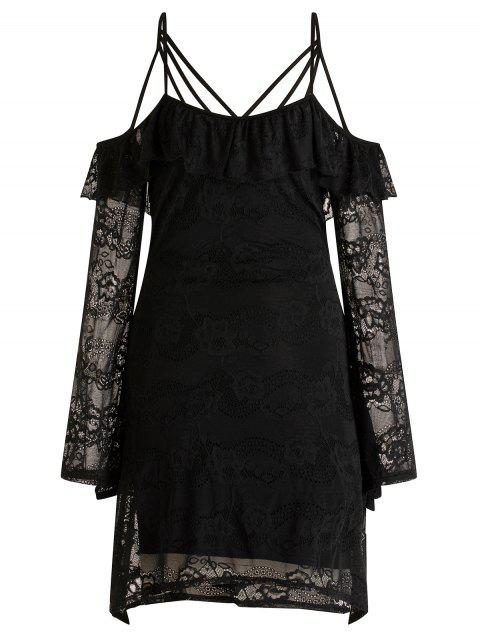 Strappy Lace Dress - BLACK L