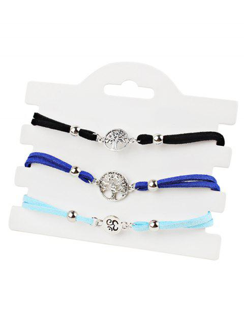 Alloy Tree of Life Pendant Anklet Chain Set - multicolor A