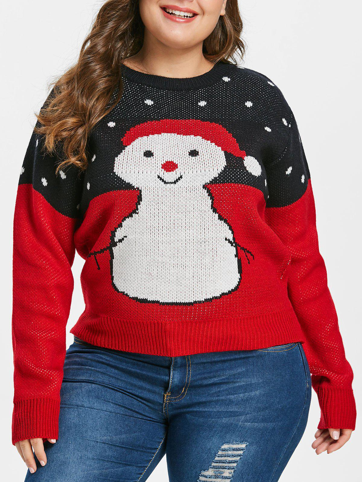 Plus Size Snowman Christmas Sweater